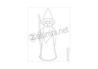 Coloriage Lineus le Magicien