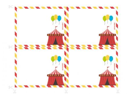 UitnodigingenPrintklare uitnodigingen voor verjaardagsfeestjes - Speurtocht in het circus